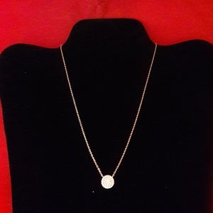 Silver Studio Rose Gold Cubic Zirconia Necklace